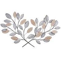 Природа вдохновил металл, МДФ, дерево листья стенки D? кор, многоцветный