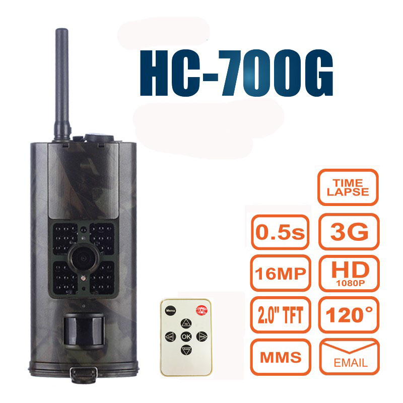 <font><b>HC700G</b></font> Hunting Camera <font><b>3G</b></font> GPRS MMS SMTP SMS 16MP 1080P 120 Degrees PIR 940NM Infrared Wildlife Trail Cameras Trap image