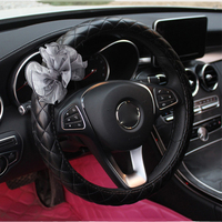 Fashion Women Lace Car Steering Wheel Cover Cute Flower 38CM Car Styling Four Seasons General For