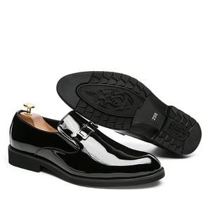 Image 5 - ZIMNIEยี่ห้อสิทธิบัตรหนังOxfordรองเท้าสำหรับชายอย่างเป็นทางการผู้ชายรองเท้าPointed Toeธุรกิจรองเท้าแต่งงานขนาด38 ~ 46