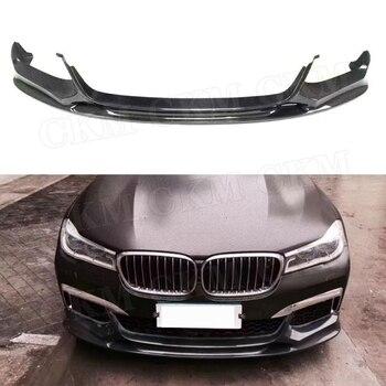 Karbon Fiber Ön Dudak Spoiler Tampon Çene Koruyucusu BMW 7 Serisi Için G11 G12 730i 740i M760 M Spor 2015 -2018 FRP 3D Tarzı