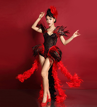 Fashion Female Singer Costume Dj Feather Costumes Dance Costumes Party dress Festival Performances Clothing