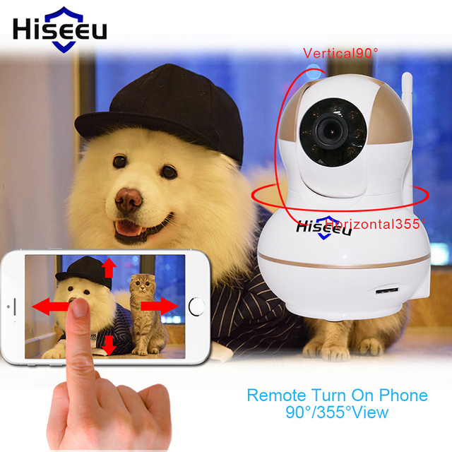 High Quality HD 720P Wireless IP Camera Wifi Night Vision wi-fi Camera IP Baby Monitor Support 433MHz Alarm Door Smoke Sensor