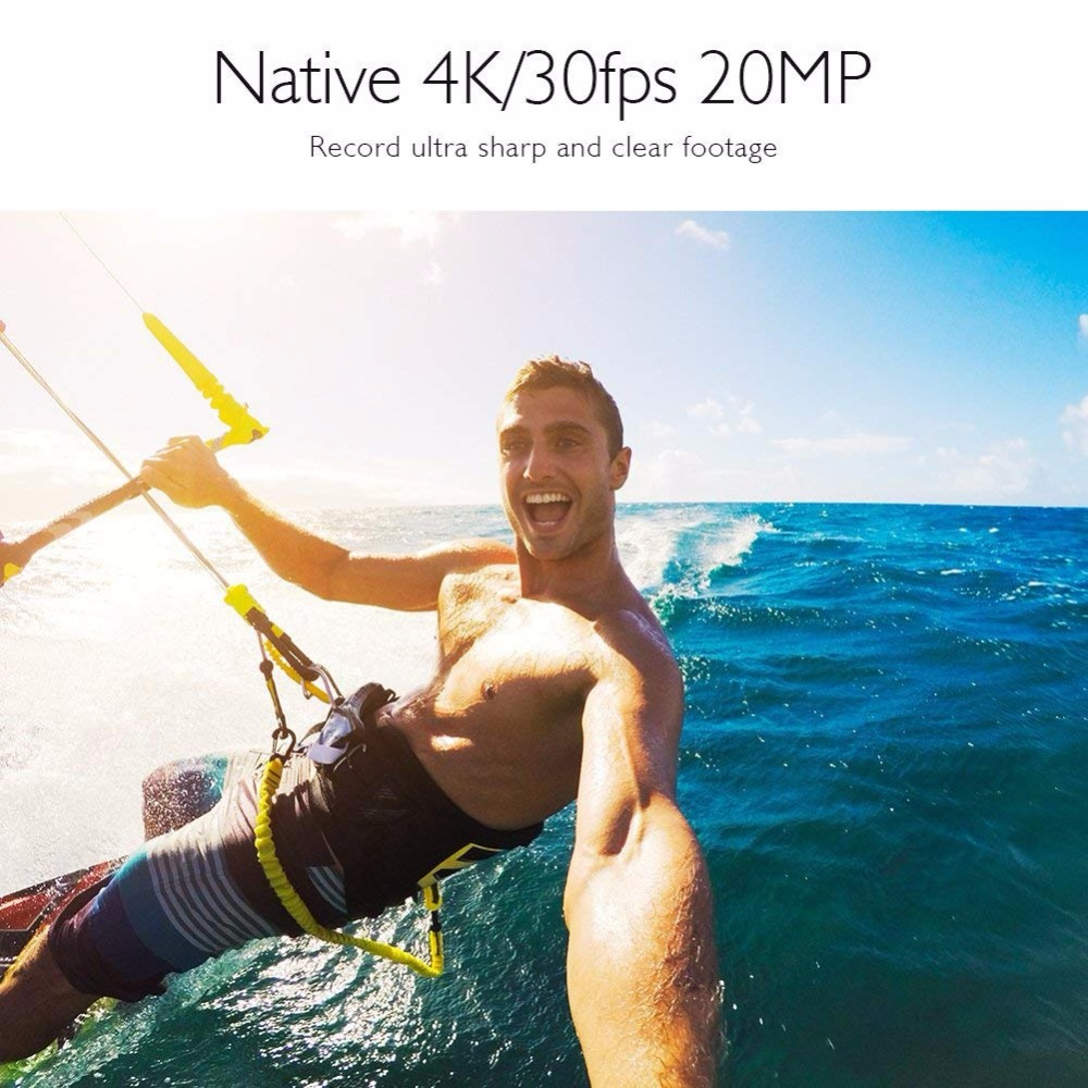 AKASO V50 Pro Natif 4 K/30fps 20MP WiFi caméra d'action 4 K avec L'EIS écran tactile Réglable angle de vue 30 m caméra imperméable - 5