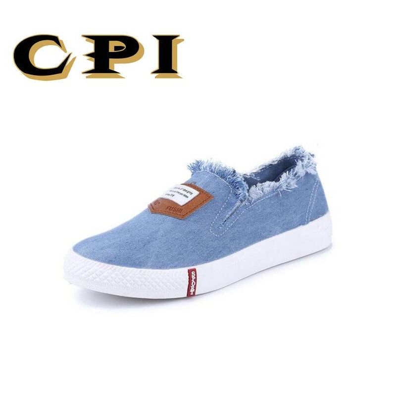 CPI Autumn New Canvas Shoes Ladies Korean Version Of The Tide Shallow Mouth Flat Shoes Wome Casual Shoes lightweight  NX-024 2017 the new european american fashion horn bow pointed mouth shallow comfortable flat sheet metal red shoes tide size 35 41