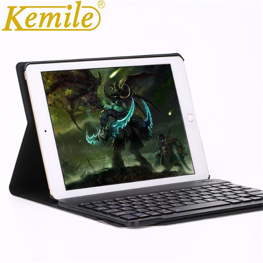 Kemile Case For iPad pro 10.5 inch Ultra Slim Leather Wireless Bluetooth 3.0 Keyboard Cover for iPad Pro 10.5 A1701 A1709 Case case for ipad pro 10 5 ultra retro pu leather tablet sleeve pouch bag cover for ipad 10 5 inch a1701 a1709 funda tablet case