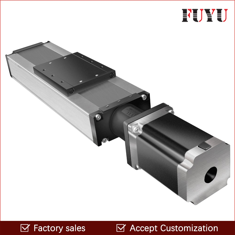 FUYU 1200mm stroke heavy load linear guide slide rail ball screw linear guide motion stage with nema 34 motor stepperFUYU 1200mm stroke heavy load linear guide slide rail ball screw linear guide motion stage with nema 34 motor stepper