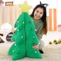 Fancytrader أكبر العملاق 110 سنتيمتر محاكاة شجرة لعبة القطيفة الناعمة الخضراء سانتا شجرة زينة