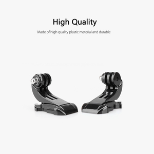 Image 2 - Vamson for Gopro Accessories 8pcs J Hook Mount Buckle Vertical Adapter For GoPro Hero 5 4 3+ for SJCAM for Yi Camera VP109A