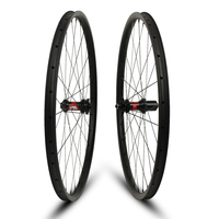 26er XC/AM/Enduro/DH MTB Wheels Tubeless Rims 24/35/40mm Width For Mountain Bike Bicycle T700 Carbon Fiber DT240S/350S Hub