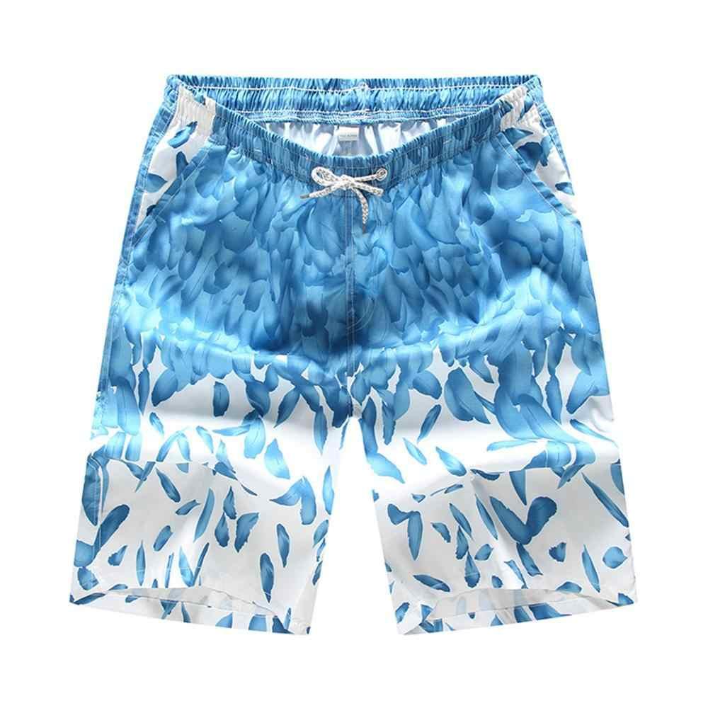 2019 мужские быстросохнущие цветные шорты, плавательные пляжные шорты, мужские спортивные пляжные шорты с цветочным принтом, шорты для серфинга