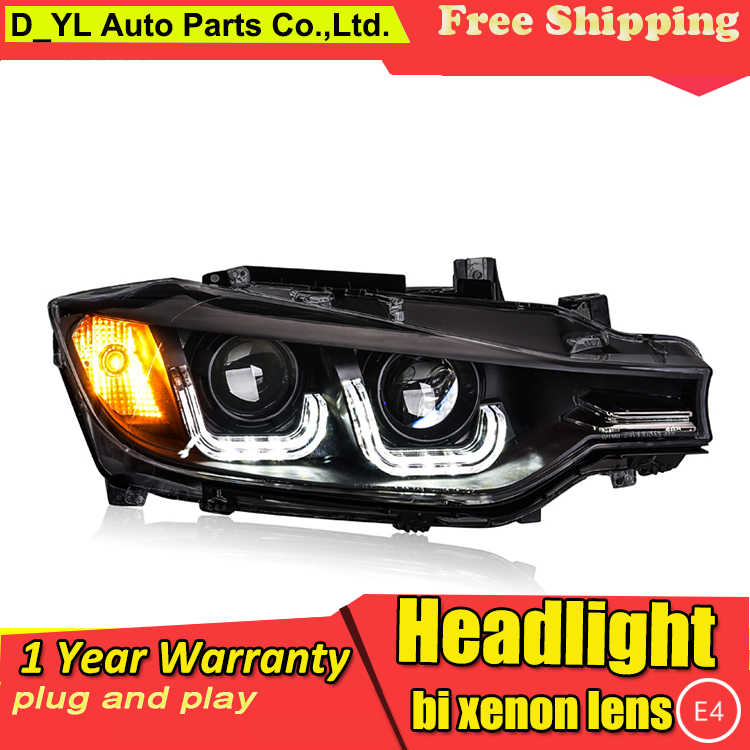 Car Styling Headlights for BMW F30 2013-2016 LED Headlight for F30 Head Lamp LED Daytime Running Light LED DRL Bi-Xenon HID