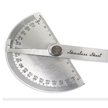15cm Adjustable 180 Degrees Multifunctional stainless steel protractor roundhead mathematical ruler angle measuring tool