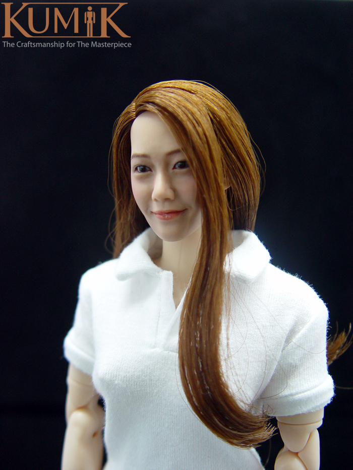 6 Asian figures 1 girl