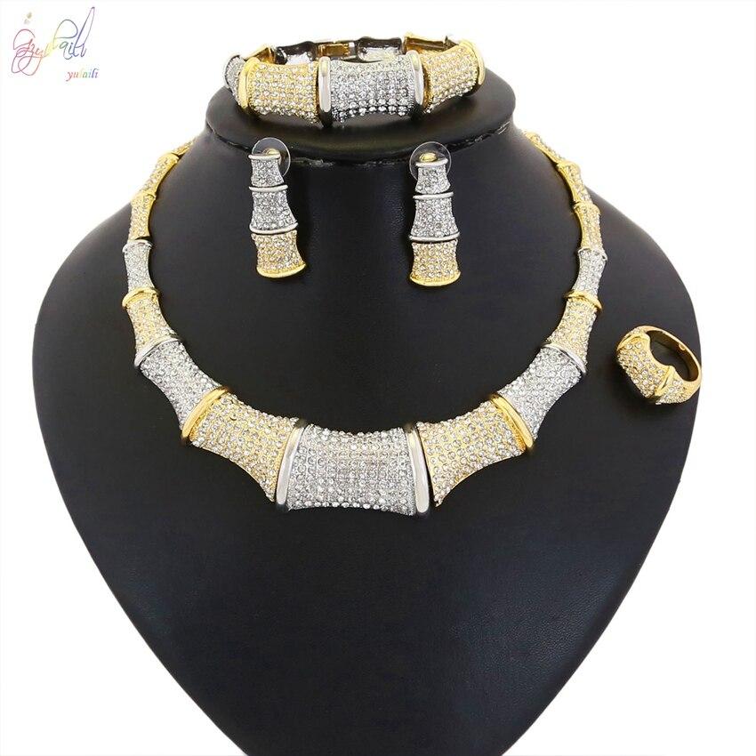 Здесь продается  YULAILI Shine Zircon Bridal Jewelry Sets Women Pageant Prom Necklace Earrings Set Wedding Accessories  Ювелирные изделия и часы