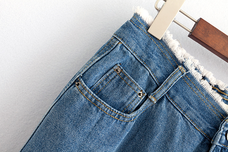 F42 Autumn Winter Plus Size Women Clothing Ankle-length Jeans 4XL Casual Fashion Loose Denim wide leg Pants 8048 11