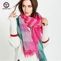 2017 Hot fashion women spring autumn Cotton + hemp scarf women's big shawls Woman Brand Wraps Female Scarf women scarves MA1604