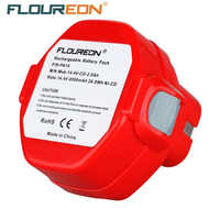 FLOUREON 14.4V 2000mAh Ni-CD Rechargeable Battery Packs Power Tool Replacement Battery Cordless Drill for Makita PA14 1422 1433
