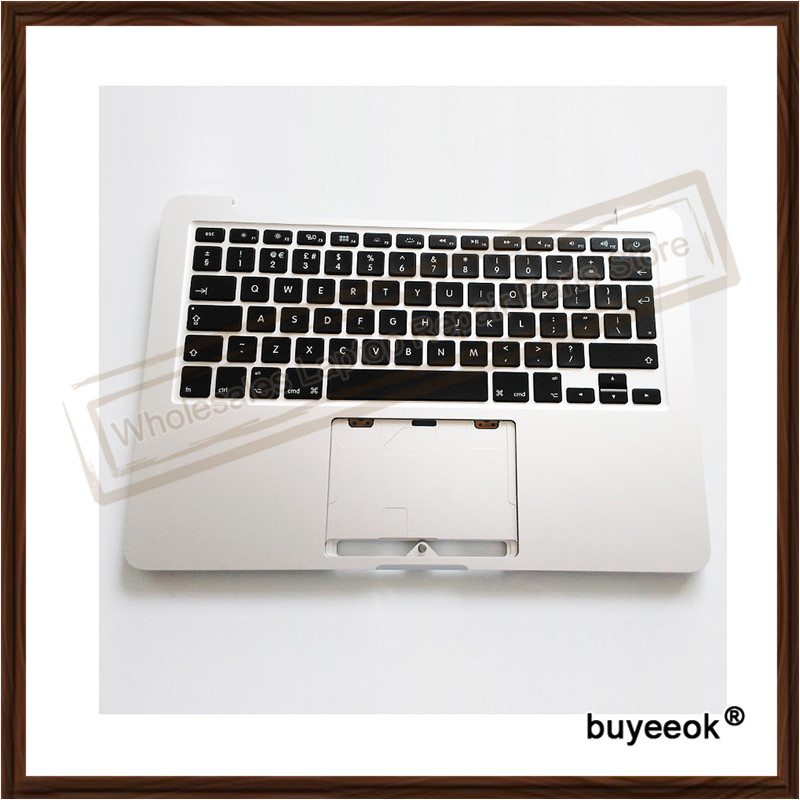 Original New A1502 Top Case With Keyboard UK Version For Macbook Pro Retina 13'' 2013 2014 new for macbook pro a1286 us top case