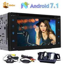 "2Din Car Stereo Android 7.1 Octa-core 6.2"" Car DVD Player GPS Navigation In Dash Bluetooth AM FM Radio Receiver+wireless camera"