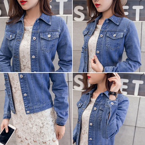 Image 3 - Denim Jackets Womens Blue Coat 2020 Autumn Denim Jackets for Women Jeans Single Breasted Denim Coats Female Feminine Clothing