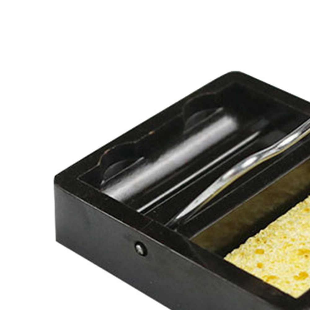 חשמלי הלחמה ברזל Stand מחזיק תמיכה תחנת מתכת בסיס עם הלחמה ספוג עבור בוטאן גז עט בצורת ריתוך לפיד