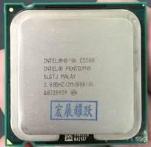 E5500 frete grátis desktop intel pentium cpu e5500 2.8 ghz 2 mb/processador lga 775 scrattered peças