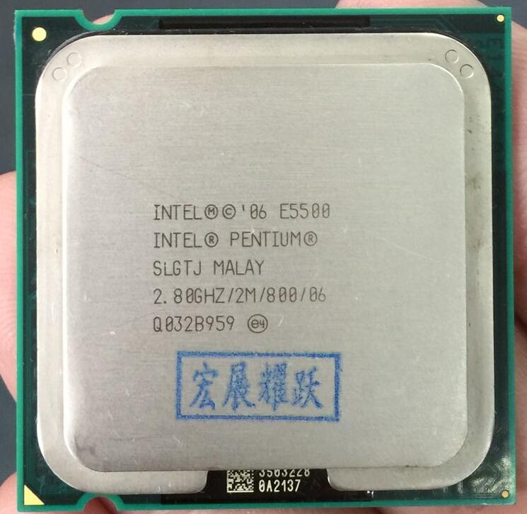 E5500 Free Shipping Desktop Intel Pentium Cpu E5500 2.8GHz 2MB/ Processor LGA 775 Scrattered Pieces