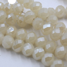 FLTMRH Milky white Color 8mm 70pcs Rondelle Austria faceted Crystal Glass Beads Loose Spacer Beads for Jewelry Making(China)