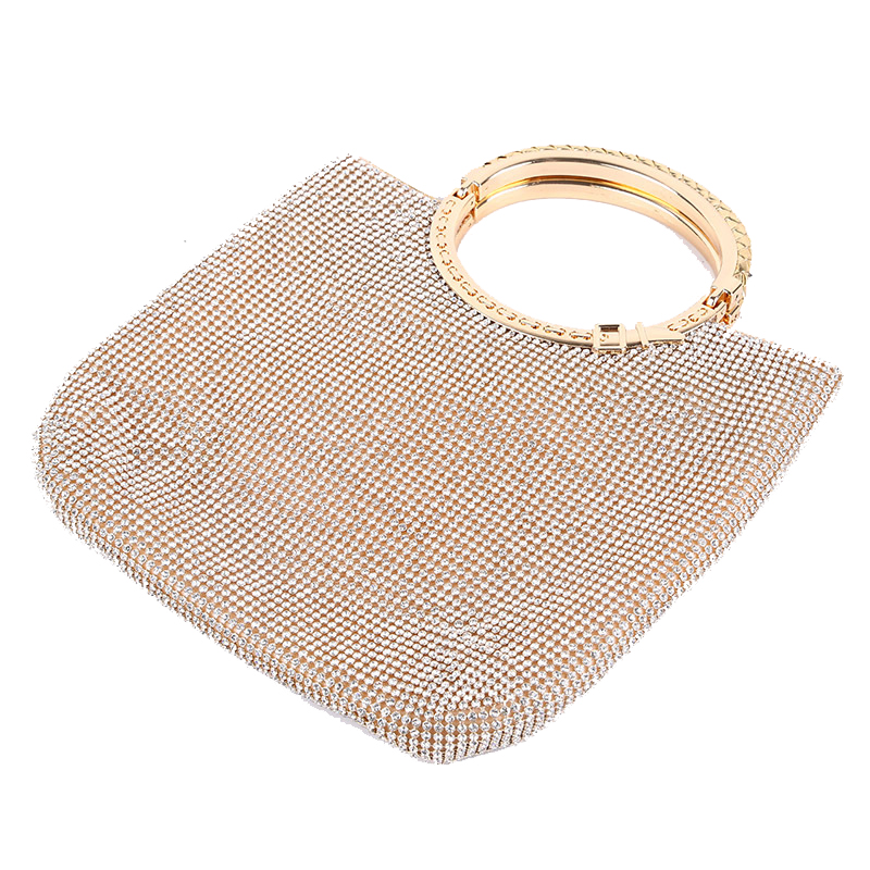 Silver/Gold handbags women famous brands For Wedding Party Evening Bags Small Purse Full Rhinestones Bags carteira feminina стоимость