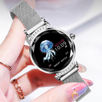 Volemer Fashion H2 Women Smart Watch 3D Diamond Glass Heart Rate Blood Pressure Sleep Monitor Best Gift Ladies Smartwatch 4color