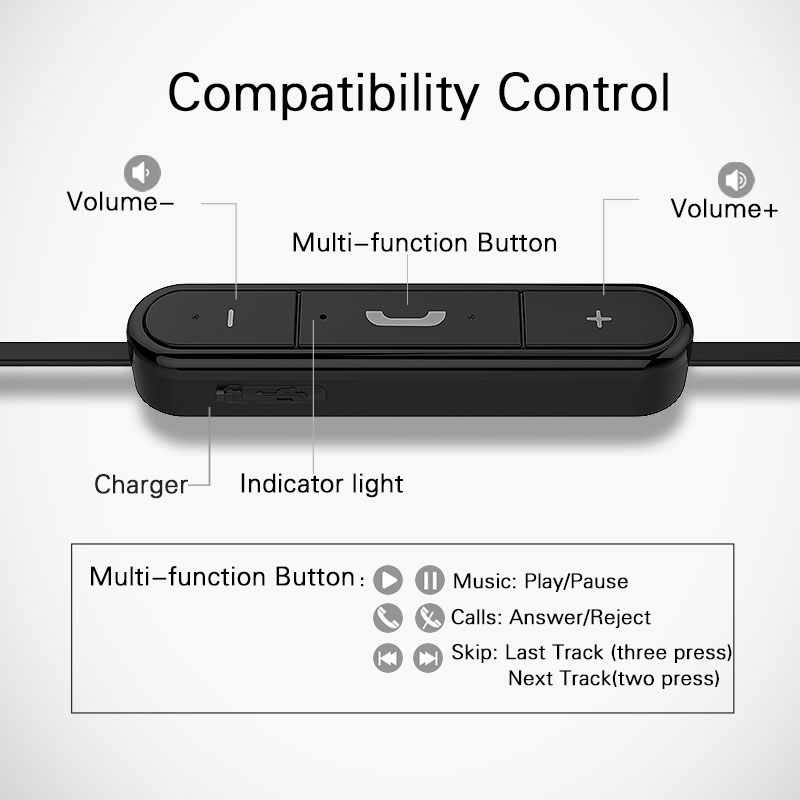 Auriculares Langsdom BL6 auriculares inalámbricos Bluetooth auriculares deportivos auriculares para teléfono medio auricular Bluetooth