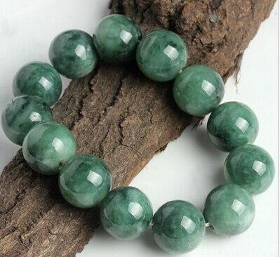 437 Chinois Super 100% Un Grade Naturel Jade/Jadéite Perles Chaîne Bracelet