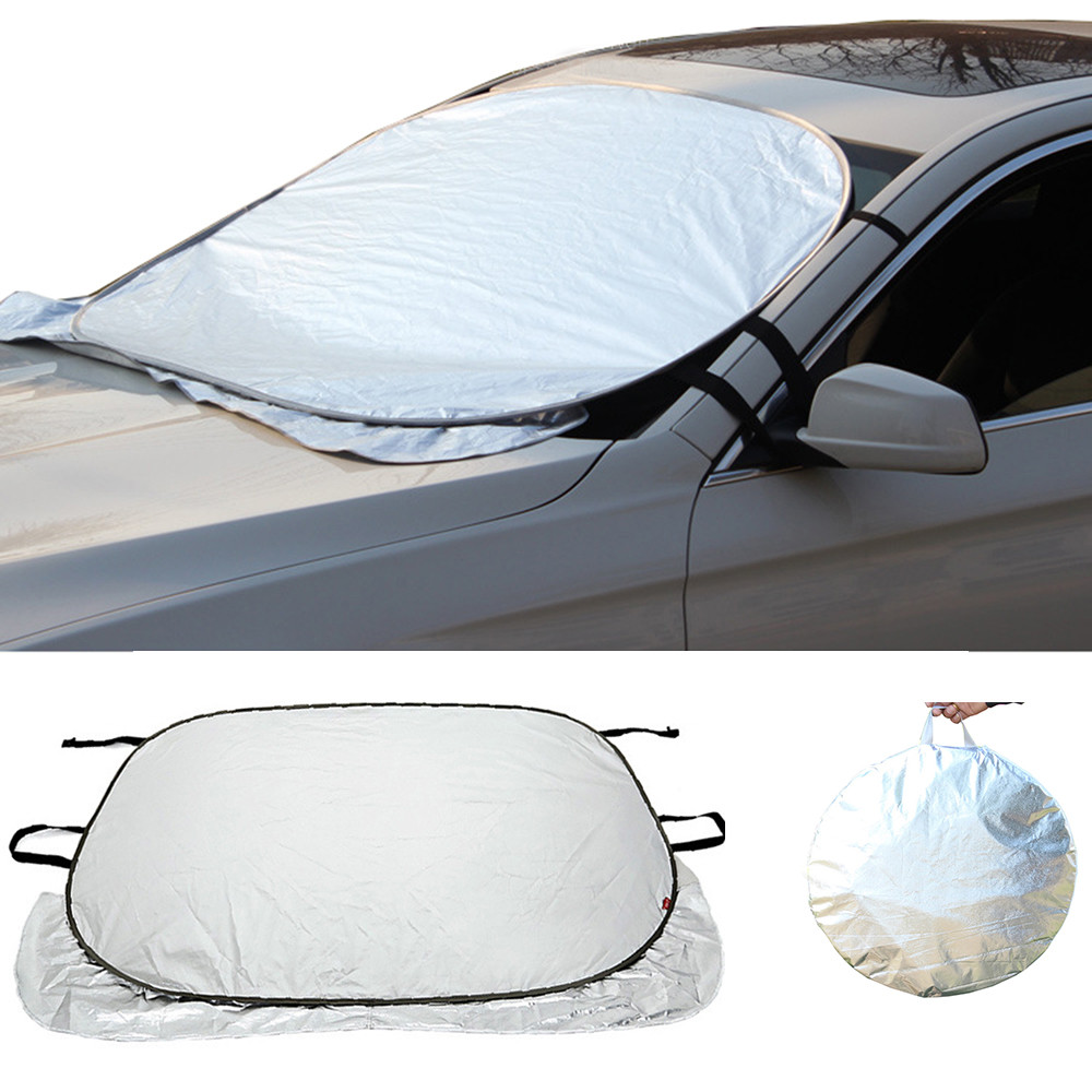 Car Sun Shade Auto Curtain Jumbo Foldable Auto Car Suv Sun Shade Visor Block Front Window Windshield Cover Sunshade Car