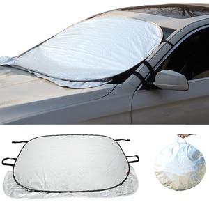 Car Sun Shade Auto Curtain Jumbo Foldable Auto Car SUV Sun Shade Visor Block Front Window Windshield Cover Sunshade Car