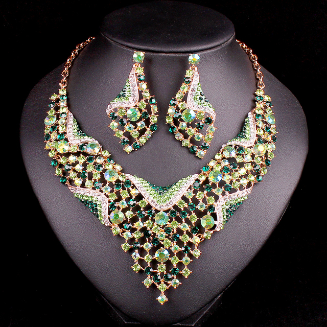 Fashion Indian Bridal Jewelry Sets Wedding Necklace Earring sets