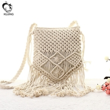 KUJING fashion Handbag Trend Weaving High Quality Shoulder Messenger Bag