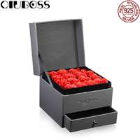QIUBOSS New High Quality Jewellery Set Box Boutique Jewelry Gift Box Rose Flower Jewelry Noble Gift Box