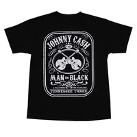 New Men Summer Tops Casuals Shirts New Fashion JOHNNY CASH MAN IN BLACK Printing Clothes Cheapest