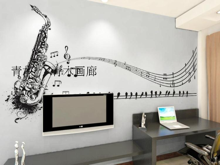 Custom 3d Mural 3D Musical Instrument Wallpaper TV Background Cabaret KTV Living Room Minimalist