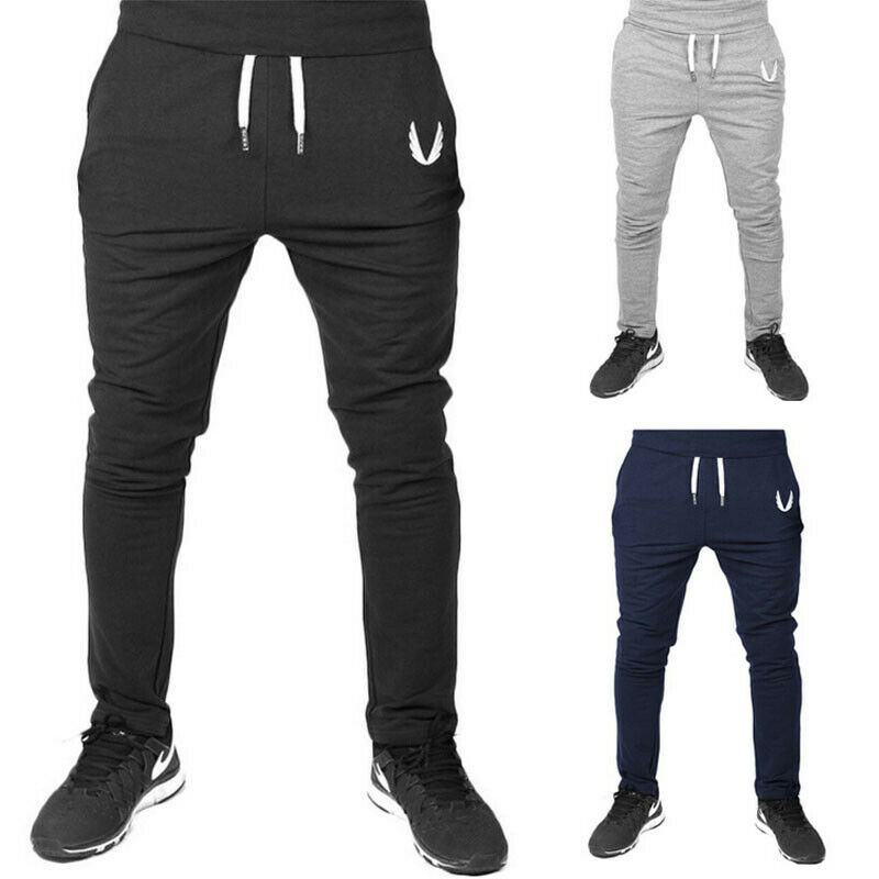 Men Casual Long Sport Pants Gym Slim Fit Trousers Running Joggers Gym Sweatpants