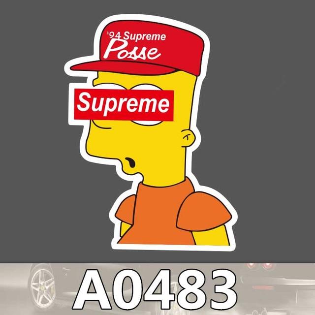 Bevle A0483 Supreme Simpson Waterproof Cool DIY Sticker