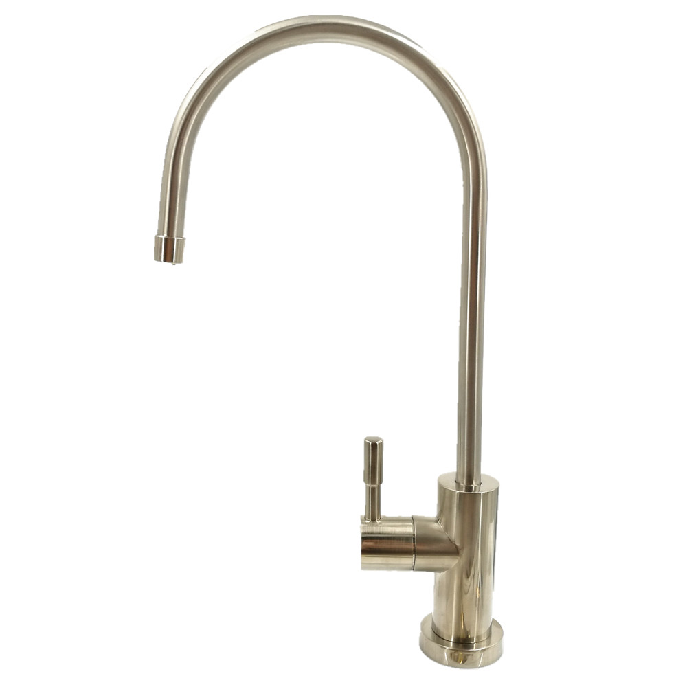 Rolya SUS 304 Stainless Steel Lead Free Brushed Nickle Drinking Water Filtration Tap Gooseneck Kitchen Faucet
