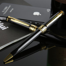 Black & Golden Metal Ballpoint Pen Better Than Parker Pens the Office & School Supplies Stationery Signature Pen Gift Item(China)