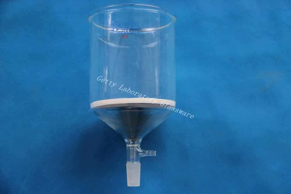 2L Buchner funnel, 2000ml, C-Coarse filter, with 10mm hose,24/40 joint, (lab glassware)