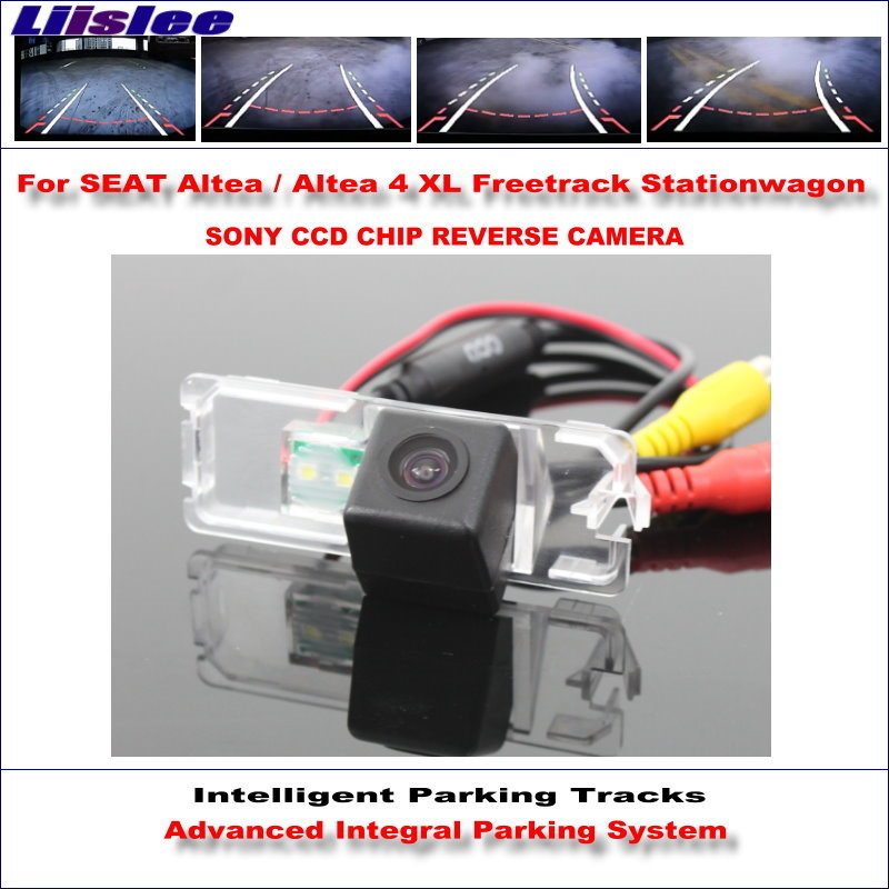 Liislee Intelligentized Reversing Rear Camera For SEAT Altea Altea 4 XL Freetrack Stationwagon Rear View Dynamic