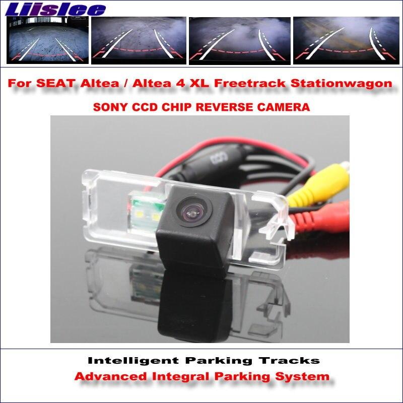 купить Liislee Intelligentized Reversing Camera For SEAT Altea Altea 4 XL Freetrack Stationwagon Rear View Dynamic Guidance Tracks по цене 2878.33 рублей