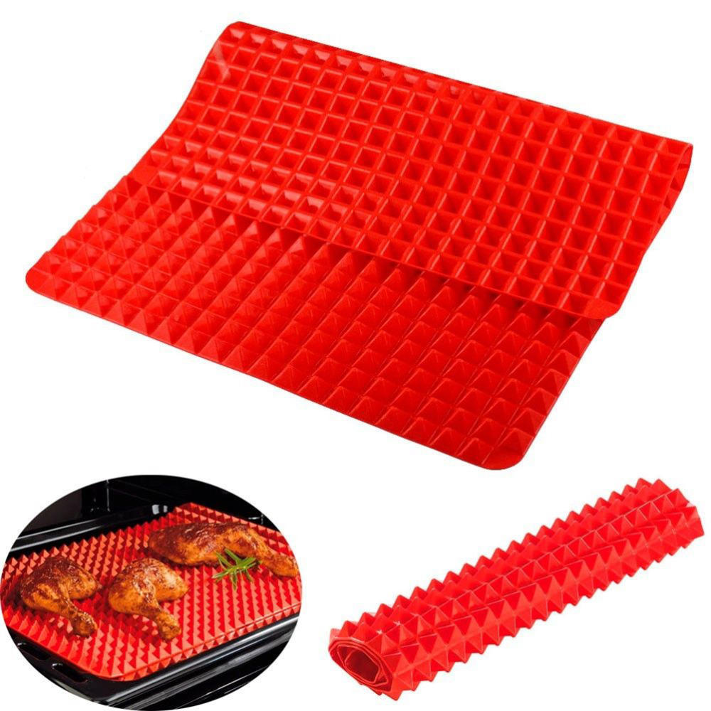 New Silicone Cooking Mat Kitchen Utensils Household Utensils New Pyramid Pan Fat Reducing Textured Non Stick