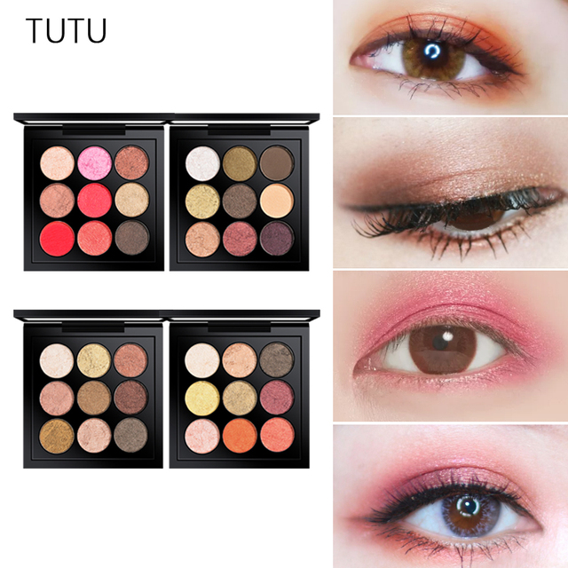 TUTU 9 Colors Eyeshadow Palette Matte Shimmer Glitter Foiled Eye Shadow  Palettes Blush Makeup Set For PROFESSIONAL Beauty bebfcecf3577
