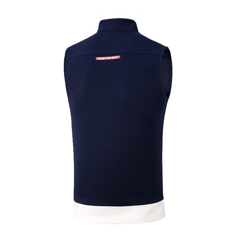 2019 nouveau PGM Golf vêtements coupe-vent hommes gilet veste de Golf automne hiver garder au chaud sans manches Zipper gilet Golf vêtements - 3